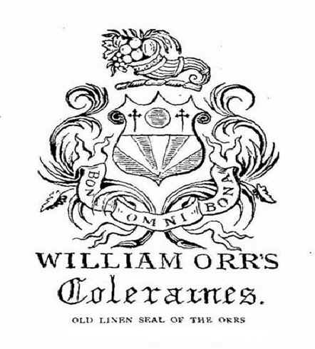 William Orr Coleraine, crest